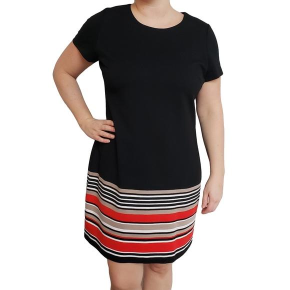CALVIN KLEIN Black Red & White Short Sleeve 16